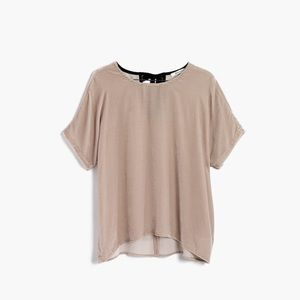 Madewell taupe crushed velvet blouse F9109